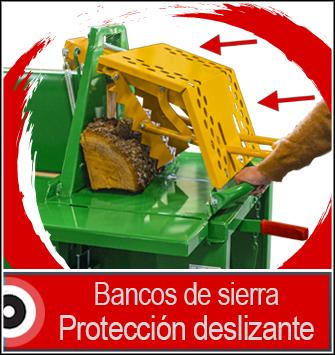 Sierra de bancos con protección deslizante