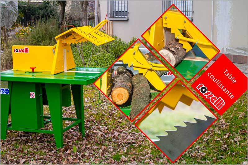 Lame de scie circulaire pour bois de chauffage avec table coulissante